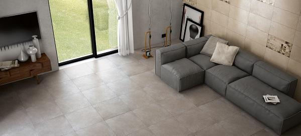 Carrelage béton : posez du carrelage gris béton pour votre intérieur